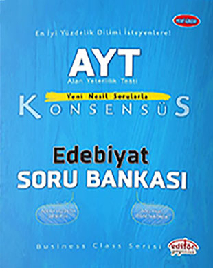 Editör Yayınevi - AYT Edebiyat Konsensüs Soru Bankası