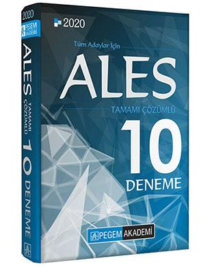 Pegem Akademi Yayıncılık - ALES Tamamı Çözümlü 10 Deneme