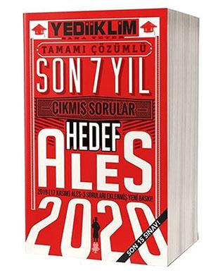 Yediiklim Yayınları - ALES Tamamı Çözümlü Son 7 Yıl Çıkmış Sorular